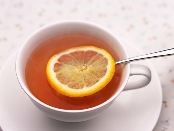 Чай черный, зеленый с лимоном