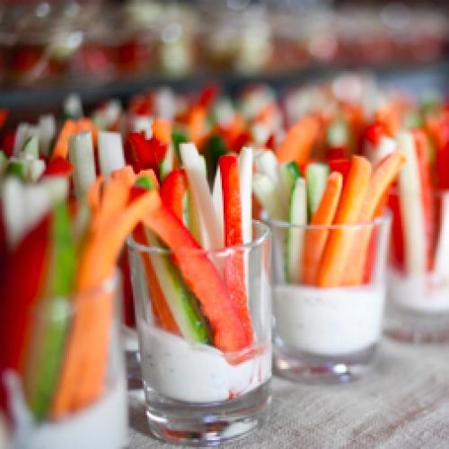 Крудите из свежих овощей с соусом айоли